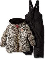 Pink Platinum Little Girls' Cheetah Print Snowsuit