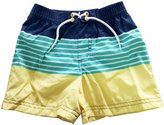 eKooBee Boys Swim Trunks Striped Beach Swimwear Swim Shorts