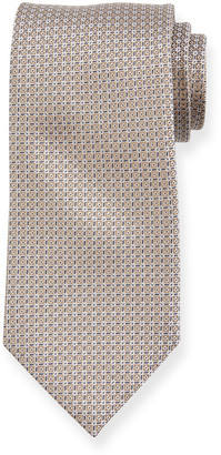 Brioni Woven Boxes Silk Tie