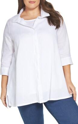 Foxcroft Skye Linen Tunic Shirt