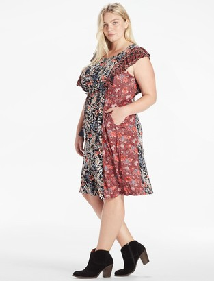 Lucky Brand Mixed Floral Dress