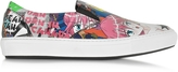 DSQUARED2 Manga Print Leather Slip On Sneaker
