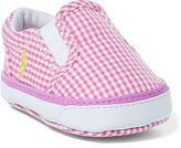 Ralph Lauren Girl Bal Harbour Gingham Sneaker