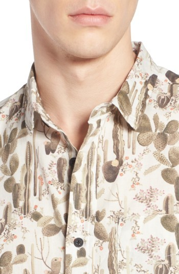 Globe Men's Desert Bloom Print Shirt