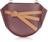 Le Parmentier Peyote Smooth Leather Shoulder bag w/Bow
