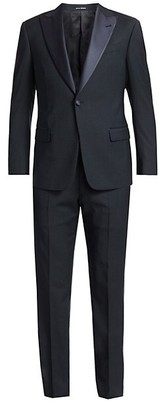 Emporio Armani Houndstooth Wool Suit