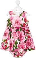Dolce & Gabbana Coulette Con Rose print dress