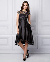 Le Château Embroidered High-Low Cocktail Dress