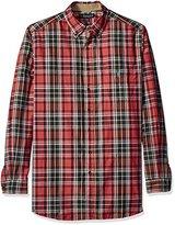 U.S. Polo Assn. Men's Big and Tall Long Sleeve Plaid Poplin Woven Shirt