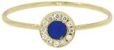 Jennifer Meyer Diamond Lapis Inlay Circle Ring - Yellow Gold