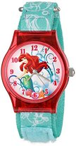 Disney Kids' W001205 Tween Ariel Plastic Watch, Analog Display Analog Quartz Blue Watch