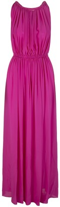 Gianluca Capannolo Long Fuchsia Empire Style Dress