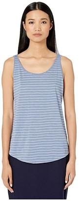 Eileen Fisher Organic Cotton Slub Stripe Scoop Neck Tank