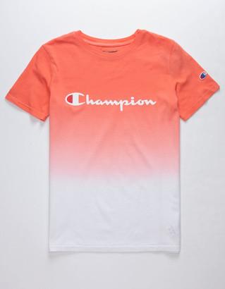 Champion Dip Dye Logo Papaya Boys T-Shirt