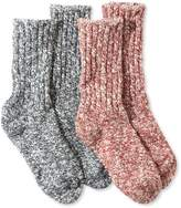L.L. Bean Kids' Cotton Ragg Socks, Two-Pack