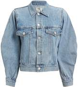 A Gold E Agolde Alix Balloon Sleeve Denim Jacket