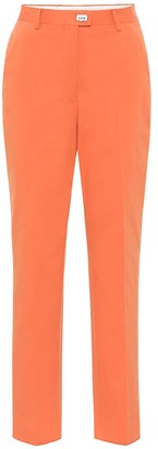 Salvatore Ferragamo High-rise straight pants