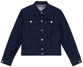 MAISON KITSUNÉ Check Lining Denim Jacket