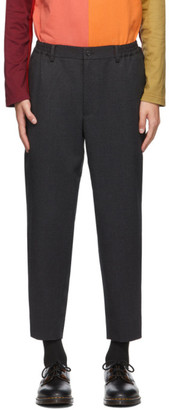 Comme des Garçons Homme Deux Grey Wool Yarn-Dyed Trousers