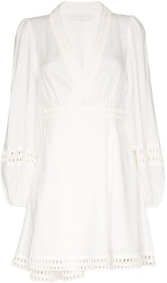 Zimmermann Bell Sleeve Mini Dress