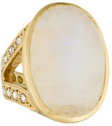Irene Neuwirth 18K Moonstone & Diamond Cocktail Ring