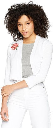 Calvin Klein Women's Long Sleeved Shrug with Floral Embroidery