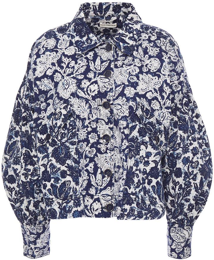 Ulla Johnson Griffin Floral-print Denim Jacket