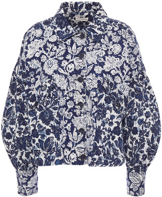 Ulla Johnson Griffin Floral-print Denim Jacket