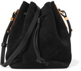 Sophie Hulme Nelson Small Suede Bucket Bag - Black