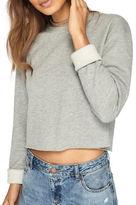 Miss Selfridge Cropped Sweatshirt