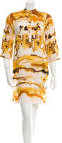 Jean Paul Gaultier Three-Quarter Sleeve Printed Dress