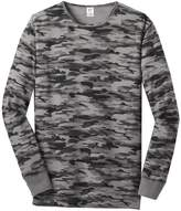 Gravity Threads Young Mens Long Sleeve Thermal Shirt - Grey Camo