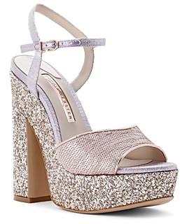 Sophia Webster Women's Juju Glitter Platform Sandals