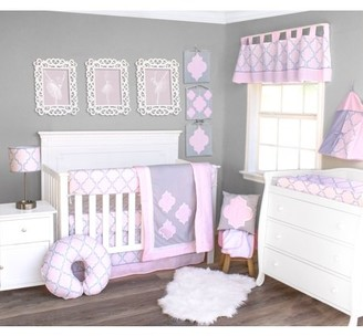 Pam Grace Creations Pink Medallion 6 Piece Crib Bedding Set