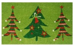 "Home & More Christmas Trio 24"" x 36"" Coir/Vinyl Doormat Bedding"