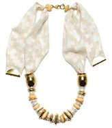 Lizzie Fortunato Age of Gold Necklace in White of 80cm