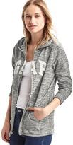 Gap Textured logo zip hoodie
