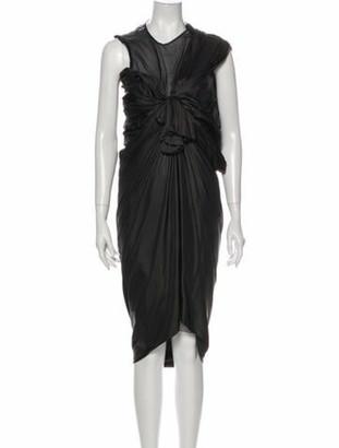 Lanvin Vintage Midi Length Dress Black