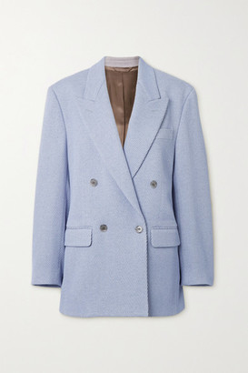 Acne Studios Double-breasted Wool-blend Drill Blazer - Lilac