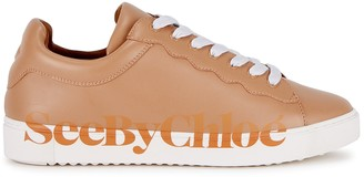 See by Chloe Essie Blush Leather Sneakers