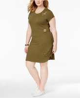 Planet Gold Plus Size Ripped Shift Dress