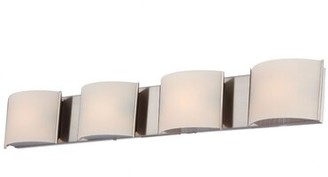 Orren Ellis Rhuddlan 4-Light Bath Bar Finish: Chrome