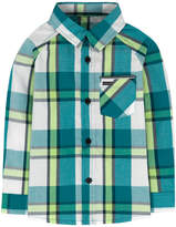 Hurley Baby Boy Plaid Raglan Top