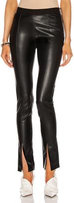 Rick Owens Vegan Leather Slit Front Legging in Black | FWRD