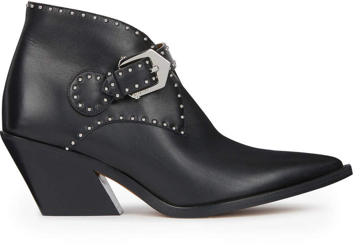Givenchy Studded Leather Cowboy Boots