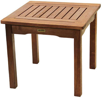One Kings Lane Mosley Outdoor Side Table - Brown