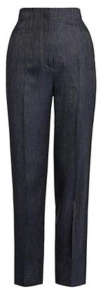 Giorgio Armani Silk & Wool Denim-Effect Slim Pants