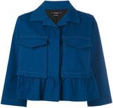 Odeeh boxy cropped sleeve jacket - women - Cotton/Spandex/Elastane/Lyocell - 38