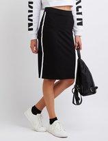 Charlotte Russe Striped Ponte Pencil Skirt
