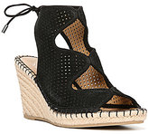 Franco Sarto Nash Perforated Ankle Tie Espadrilles